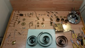 servicing a clock movement